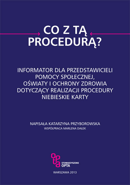 "Broszura ""Co z tą procedurą?"""